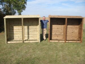 XL Double 6' Wooden Log Store