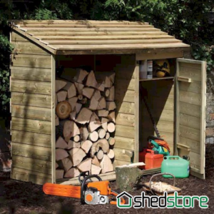 Store-Plus Large Log Tool Shed