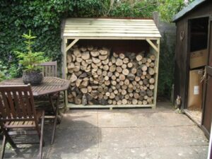Touch Wood Wooden Log Store