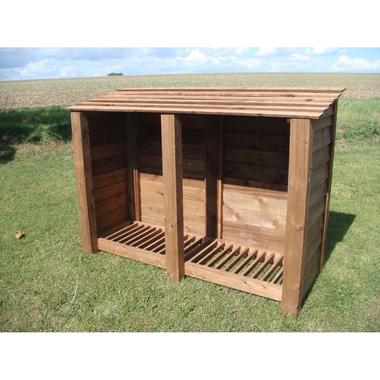 Wooden Log Store Garden Storage