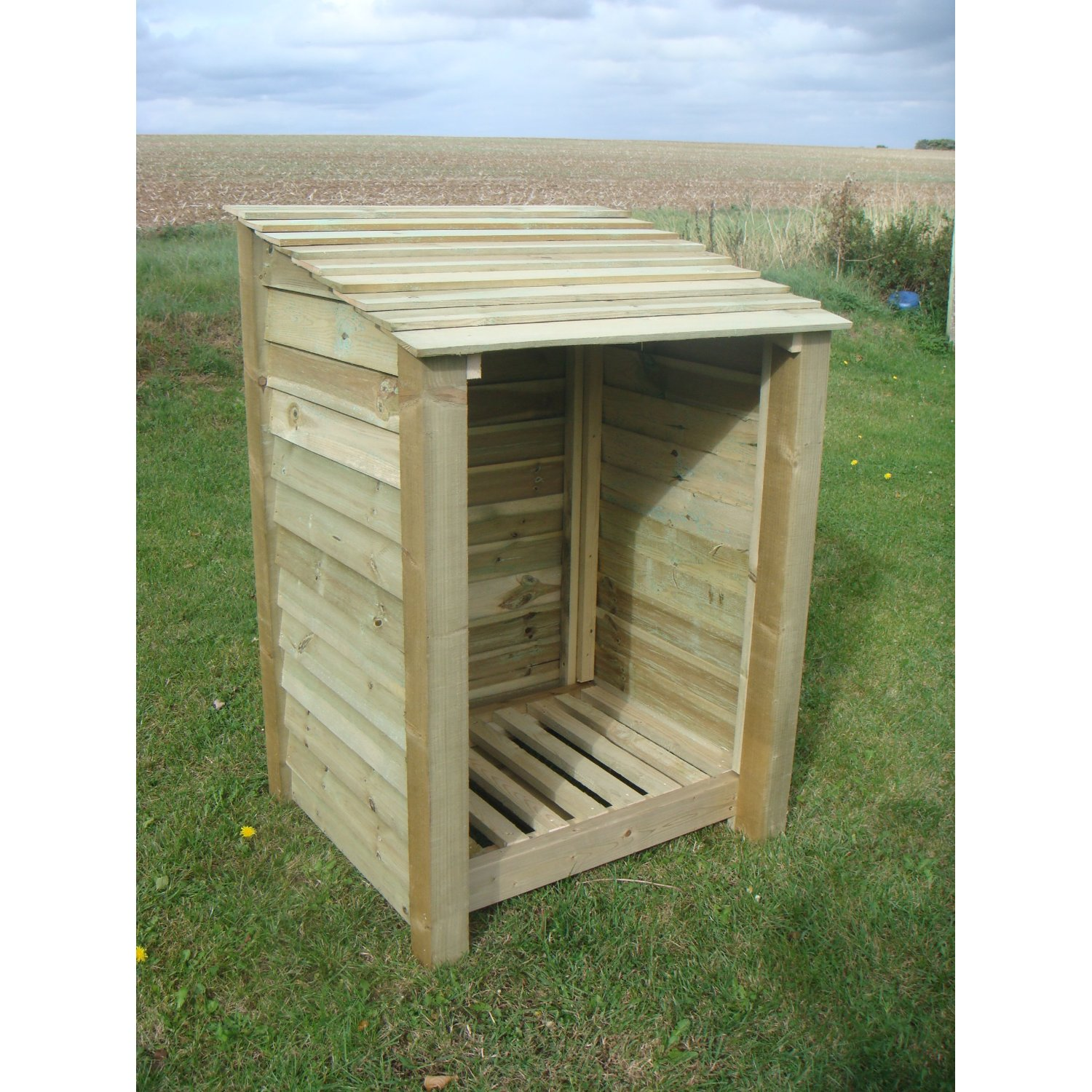 Single 4' Wooden Log Store