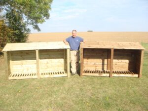 XL Double 4' Wooden Log Store