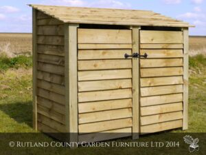 Double 4' Log Store with Doors